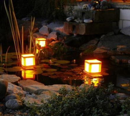 Plovoucí lucerna, oranžová