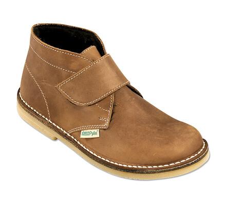 Orto Plus Pánská kotníčková obuv zateplená vel. 46 hnědá