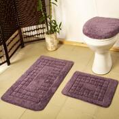 Sada koupelnových předložek Pearl fialová, 80 x 50 cm, 50 x 40 cm