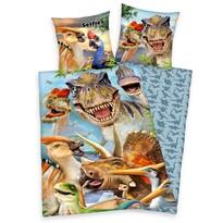 Dětské bavlněné povlečení Dinosauři, 140 x 200 cm, 70 x 90 cm