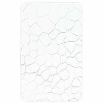 Kövek fürdőszobaszőnyeg memóriahabbal, fehér