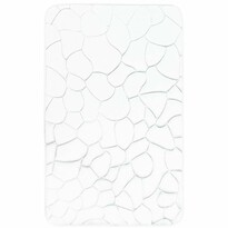Kúpeľňová predložka s pamäťovou penou Kamene biela