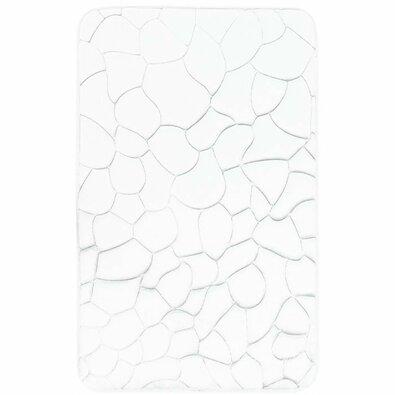 Kúpeľňová predložka s pamäťovou penou Kamene biela, 40 x 50 cm