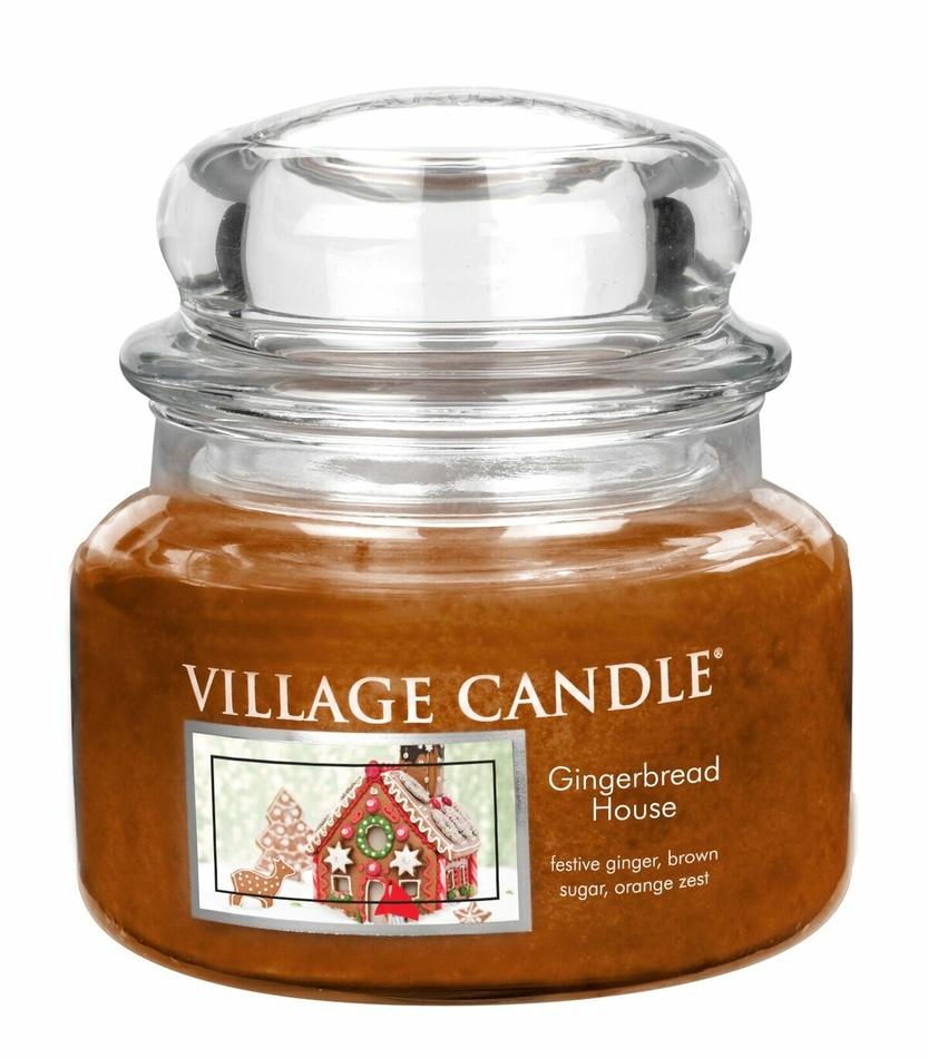 Village Candle Vonná svíčka ve skle, Perníková chaloupka - Gingerbread House, 269 g, 269 g