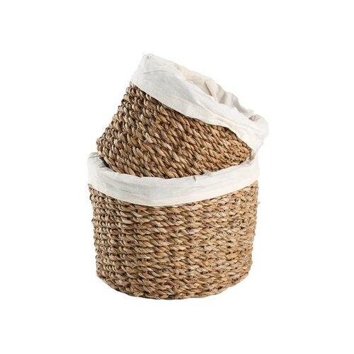 Toro 2dílná sada úložných košíků mořská tráva, tm. hnědá