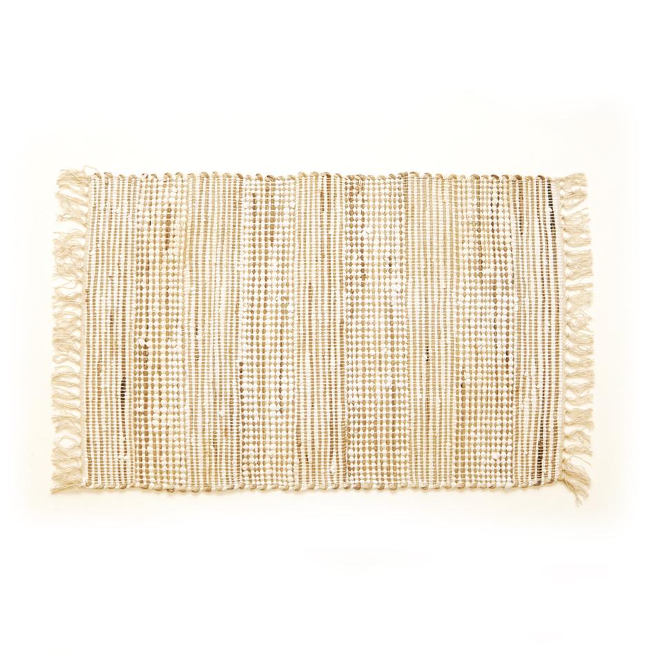 VOG Ručně tkaný koberec Juta krémová, 60 x 90 cm