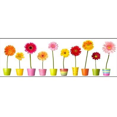 Jednodílný obraz barevné květy
