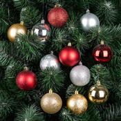 Vánoční koule Candy 16 ks, červená