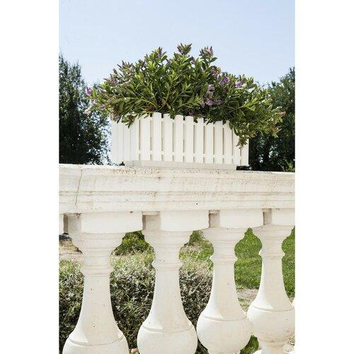 Gardenico Truhlík Fency biela, 50 x 18,5 cm