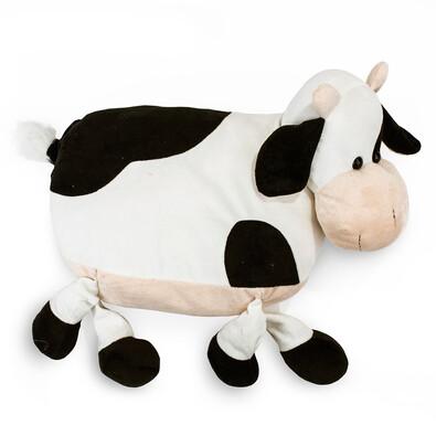 Polštářek Kráva černá, 47 cm