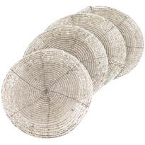 Prestieranie z korálok strieborná 10,5 cm, sada 4 ks