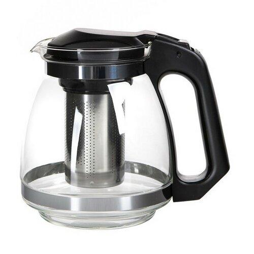 Altom Konvice na čaj se sítkem Black, 1,5 l