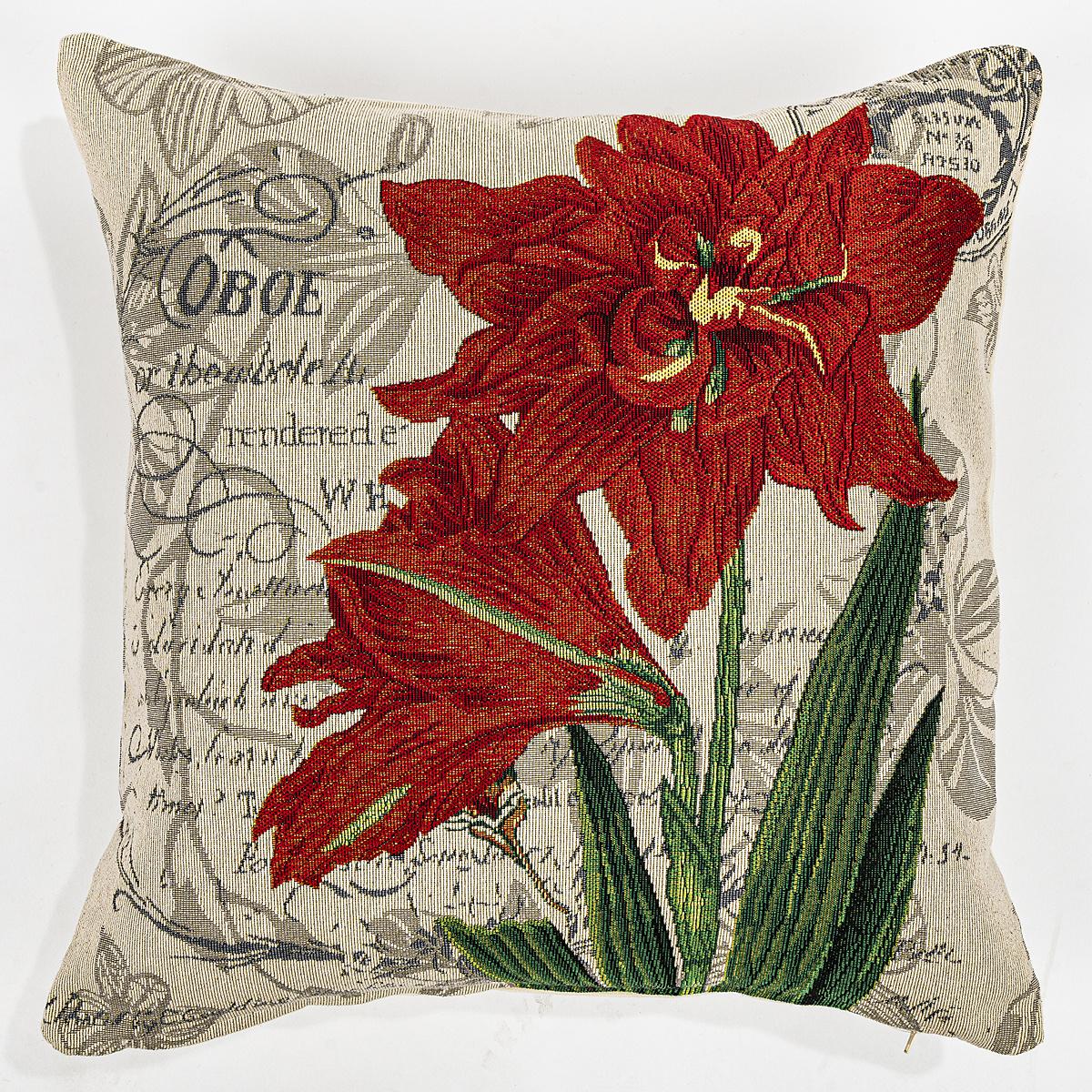 Boma Trading Povlak na polštářek Lilie červená, 45 x 45 cm