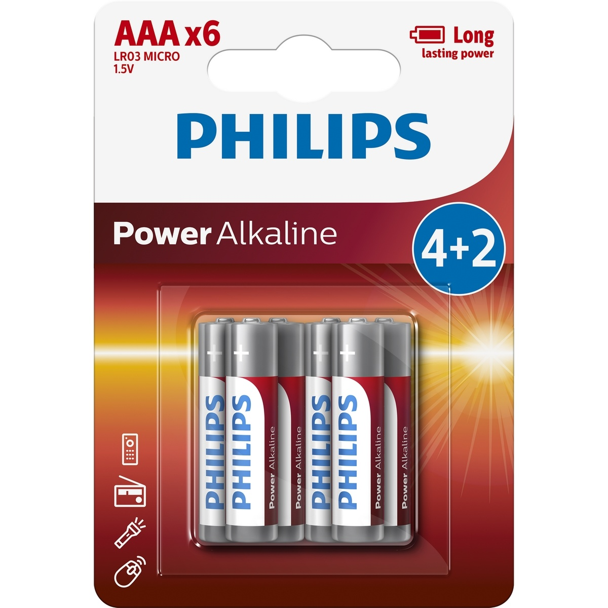 Philips PowerLife AAA 6ks LR03P6BP10