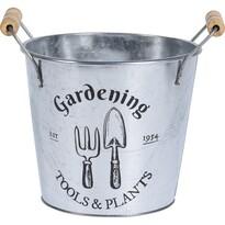 Recipient ghiveci Koopman Gardening, zincat, 19 cm