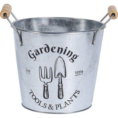 """Cynkowa osłonka na doniczkę Koopman """"Gardening"""", 19cm"""