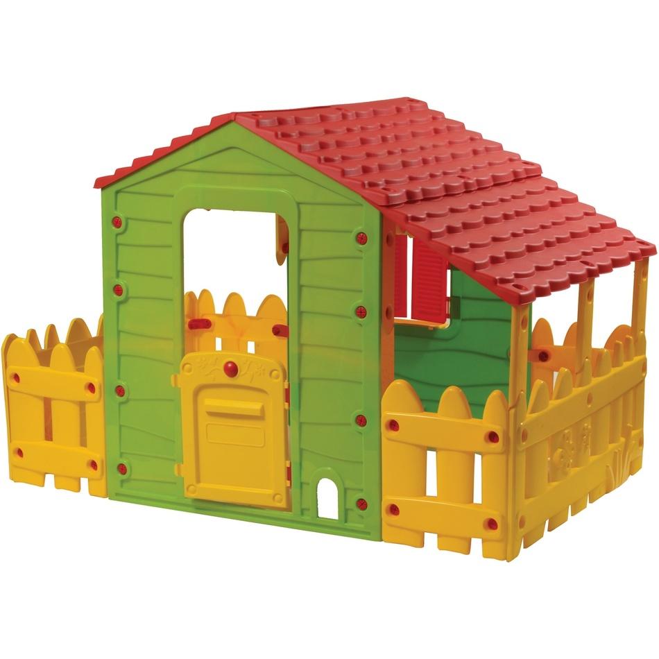 BUDDY TOYS 1180 Domeček FARM s verandou a plotem