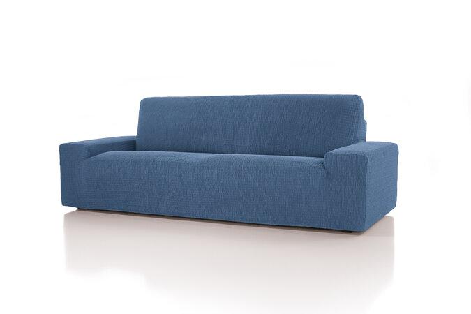 Pokrowiec multielastyczny na fotel Cagliari niebieski, 70 - 110 cm