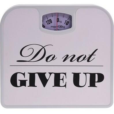 Osobná mechanická váha Do not give up, biela