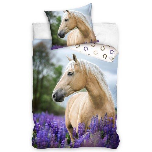 Bavlněné povlečení Kůň Palomino, 140 x 200 cm, 70 x 90 cm
