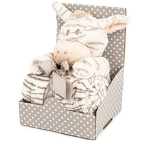 Plyšová zebra 28 cm s fleecovou dekou 74 x 100 cm, darčekové balenie