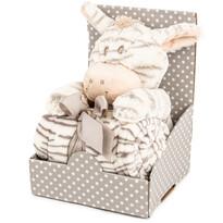 Zebră din pluș 28 cm, cu pătură fleece, 74 x 100 cm, pachet cadou