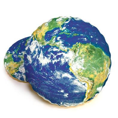 Pernă cu formă 3D, Glob pământesc, 40 cm