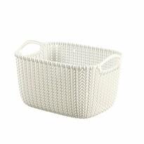 Curver Úložný box Knit 8 l, biela