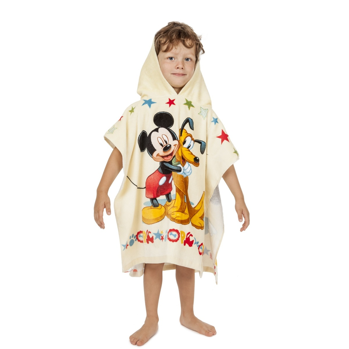 Plážová osuška Jerry Fabrics pončo Mickey Mouse froté 60x120 cm
