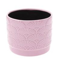 Recipient ceramic ghiveci Shells, roz, 11,8x 9,8 x 9 cm