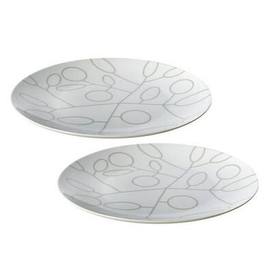 2dílná sada mělkých talířů s motivem