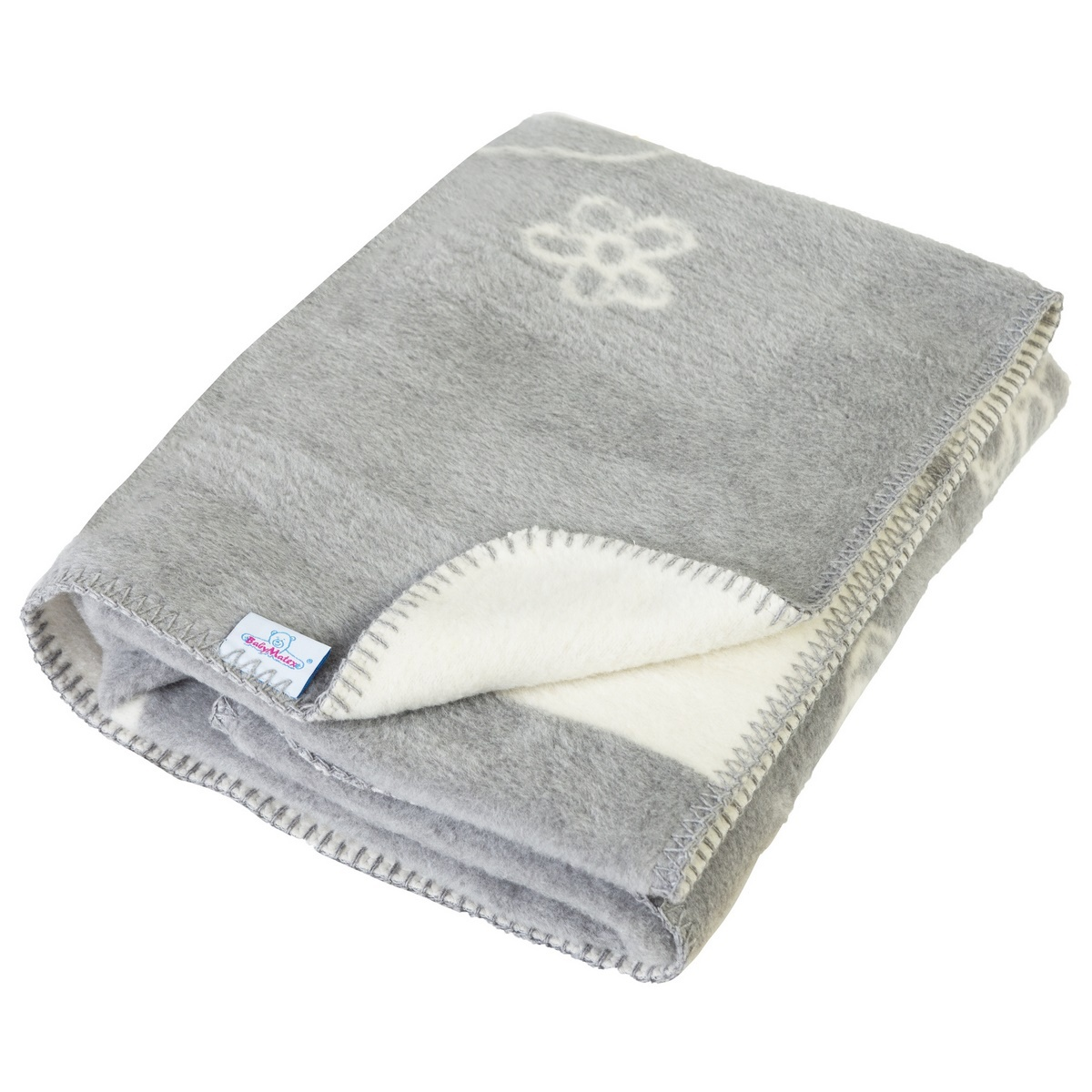 Dětská deka Teddy šedá, 75 x 100 cm
