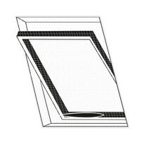 Orion Síť na střešní okno proti hmyzu bílá, 120 x 140 cm