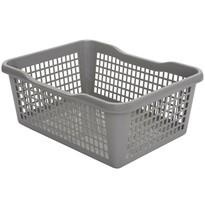 Plastový košík 41,9 x 32 x 16,8 cm, sivá