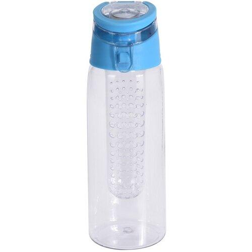 Športová plastová fľaša Lena 650 ml, modrá