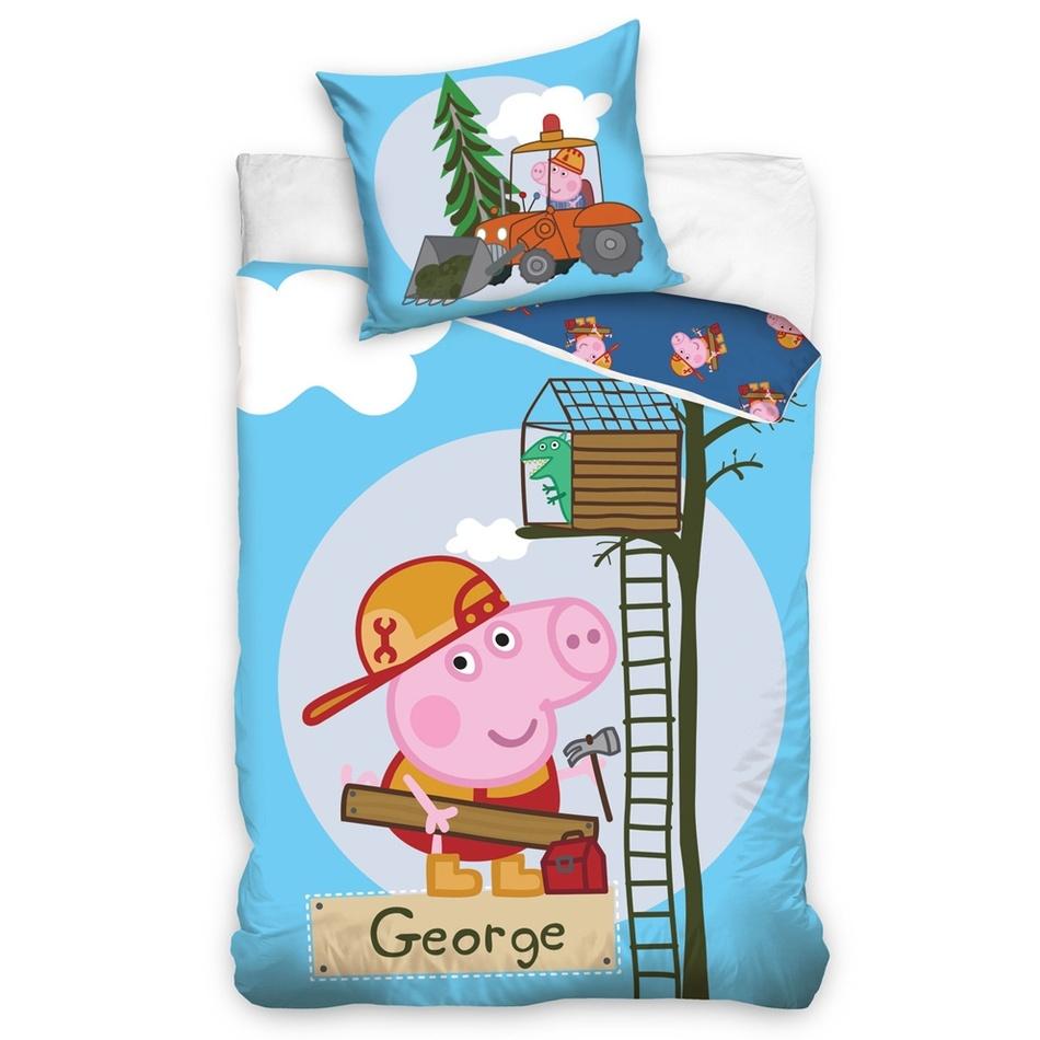 Tip Trade dětské povlečení prasátko Peppa - kutil George 140x200 70x90