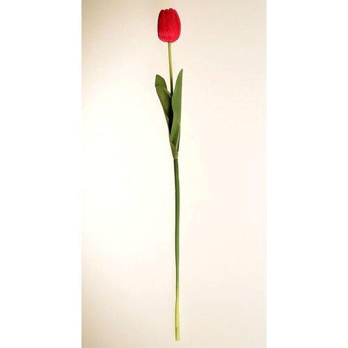 Umělá květina Tulipán tmavě růžová, 60 cm