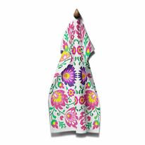 Domarex Ścierka kuchenna Folk fioletowa, 45 x 70 cm