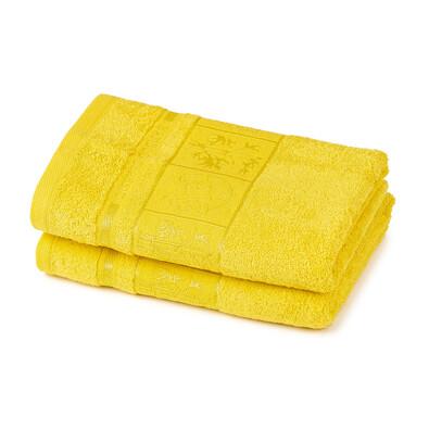 4Home Ručník Bamboo Premium žlutá, 50 x 100 cm, sada 2 ks