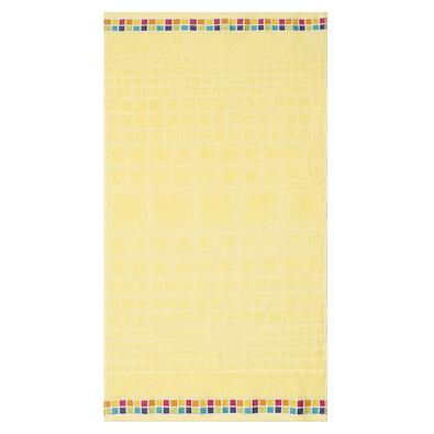 Ručník Mozaik žlutá, 50 x 90 cm