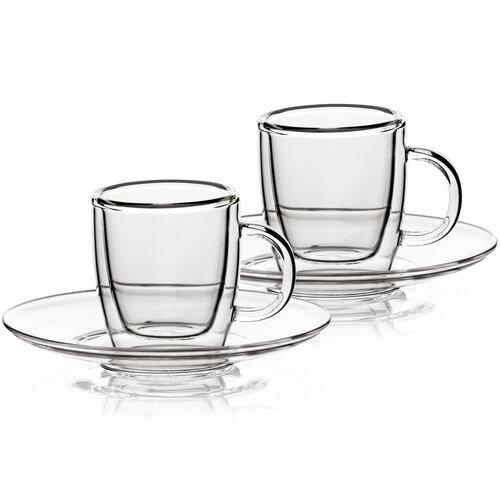 4home Termo sklenice Ristretto Hot&Cool  50 ml, 2 ks
