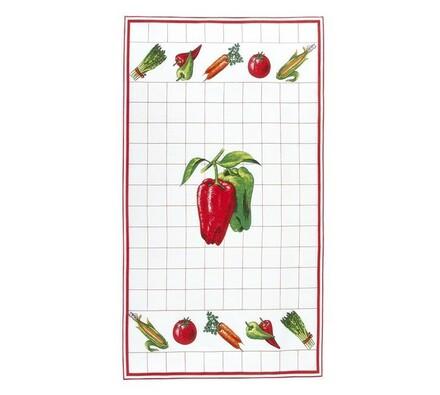 Kuchyňská utěrka paprika, 40 x 70 cm