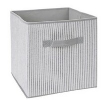 Koopman Úložný box 30 x 30 x 30 cm, sivo-biela