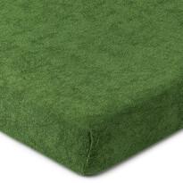 4Home prześcieradło frotte zielony oliwkowy, 180 x 200 cm