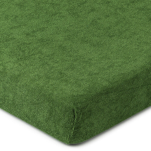 4Home froté prostěradlo olivově zelená, 180 x 200 cm