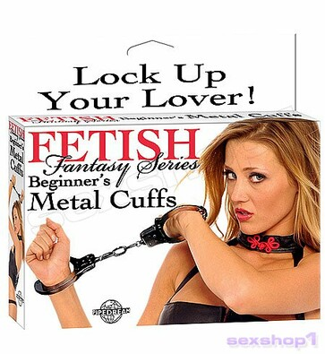 Kovová pouta Fetish Fantasy Series Beginner's Metal Cuffs