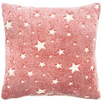 4Home Stars világító piros párnahuzat, 40 x 40 cm