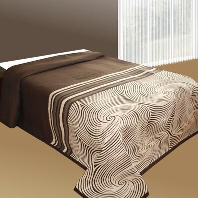 Přehoz na postel Espirales teracota, 240 x 260 cm