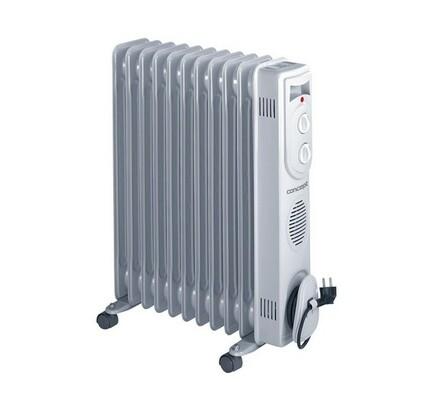 Olejový radiátor, RO-3111, Concept, bílá, 54 x 60 x 14 cm
