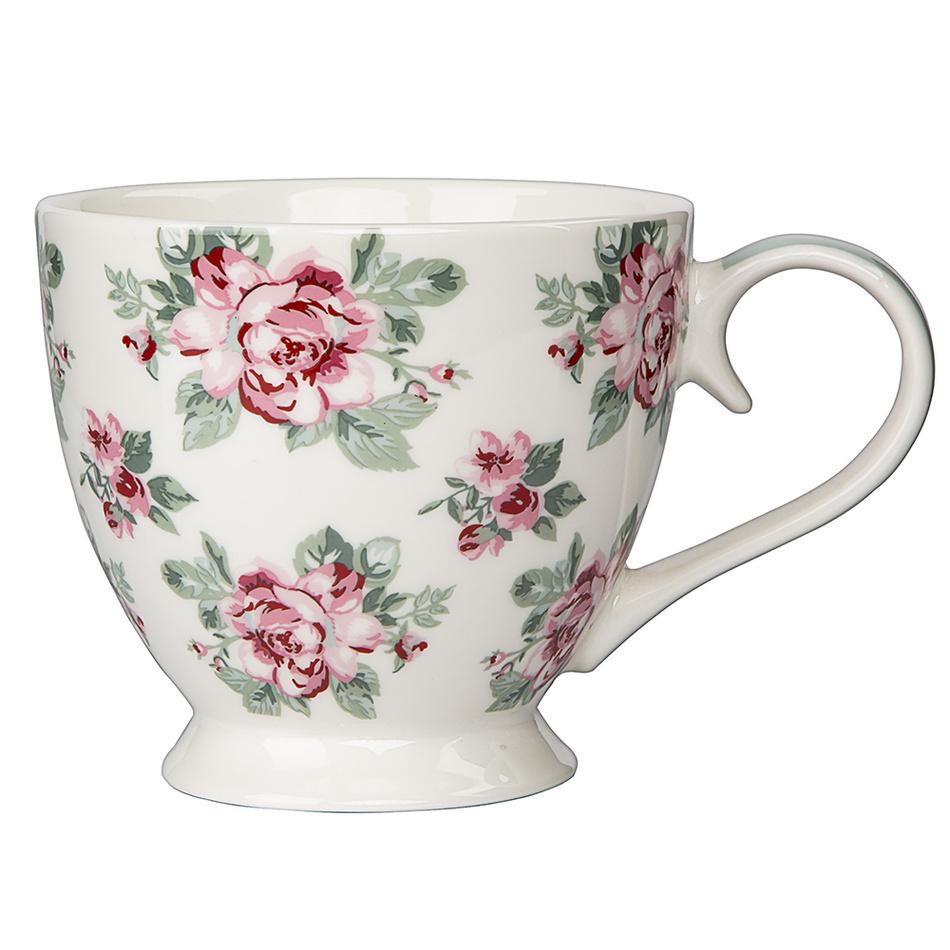 Altom porcelánový hrnek Paris Rose 420 ml, bílá